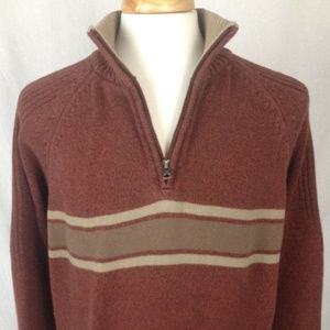 Columbia 2XL 1/4 Zip Long Sleeve Sweater Pullover